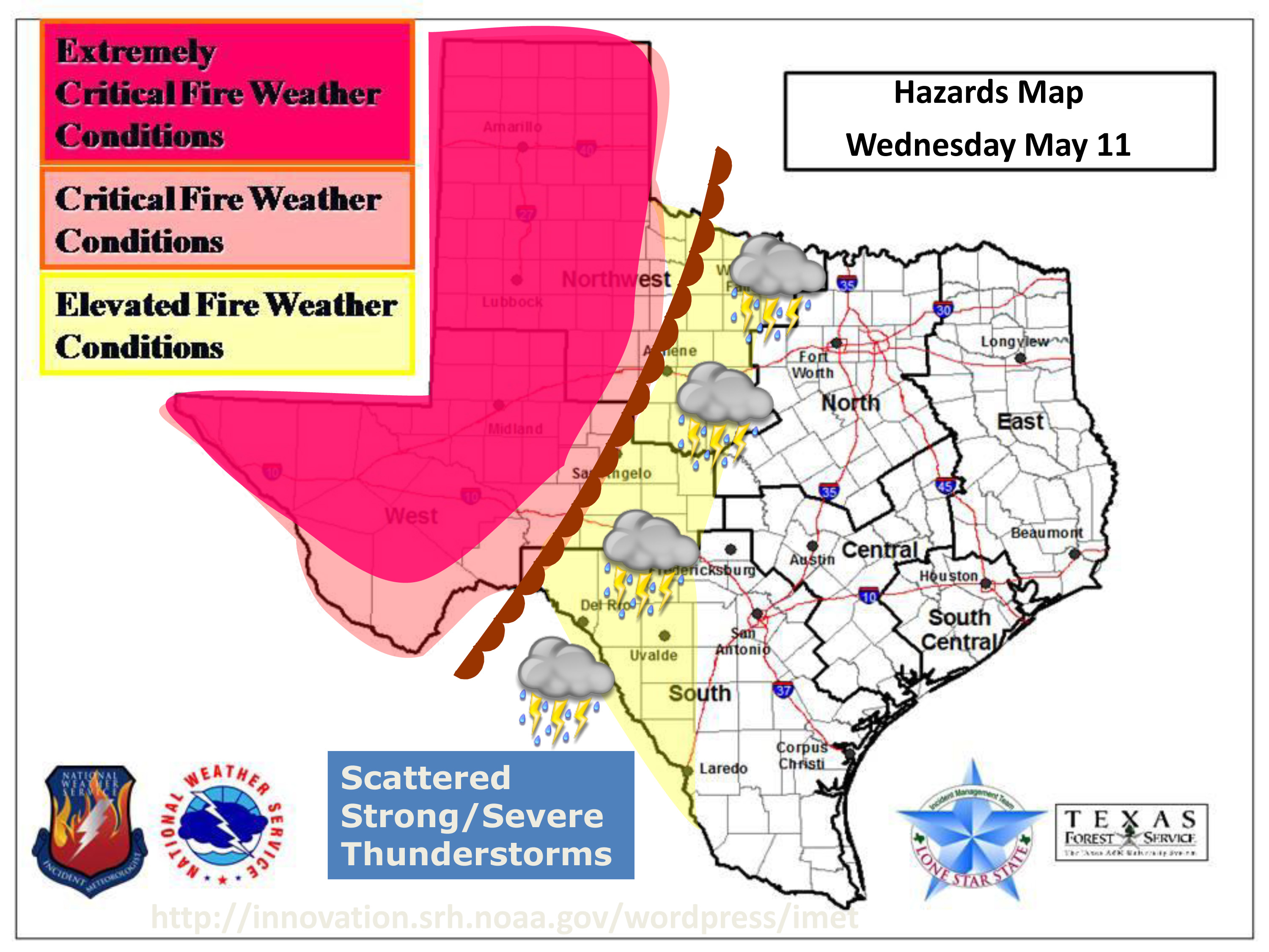 Texas Weather Map Forecast.Map West Texas