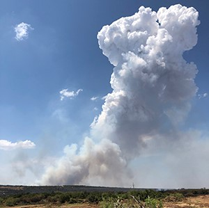 The Southern Area Type 1 Incident Management Red Team arrived in Texas this week to assist with the Copper Breaks Fire in Hardeman County. The Copper Breaks Fire is approximately 11 miles southwest of Quanah, Texas, and is currently 8,380 acres and 40% contained.