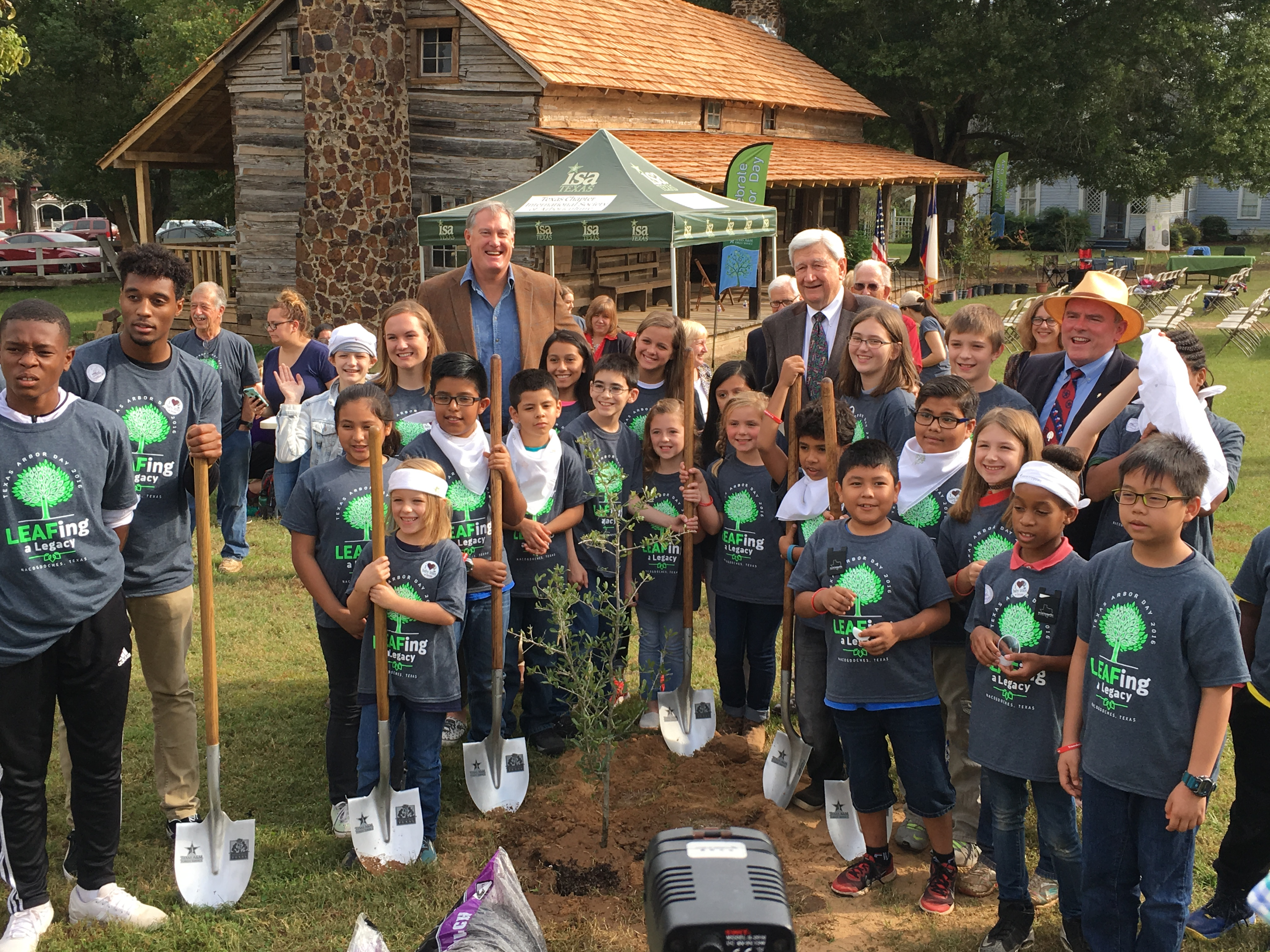 Texans celebrate Arbor Day in 'The Oldest Town in Texas""