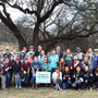 <p>Texas A&M University students planted seedlings Saturday to help restore flood-damaged areas of the Blanco River.  Aggie Replant, a student organization whose members strive to improve the community through tree planting events and environmental service.</p>