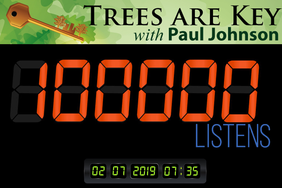 "<p>Recently, our podcast, ""Trees Are Key with Paul Johnson"" celebrated a milestone. As of February 7, our free, weekly podcast has received more than 100,000 listens. ""Trees Are Key"" is hosted by Paul Johnson, Texas A&M Forest Service Community Forestry Program Leader. </p>"