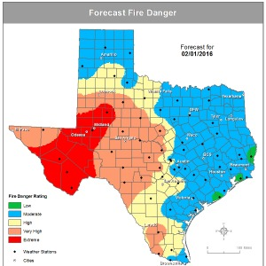 High impact fire weather expected in South Plains