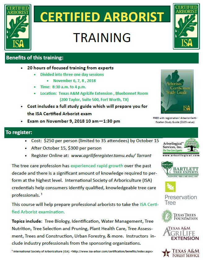 Connect Certified Arborist Training Tfs