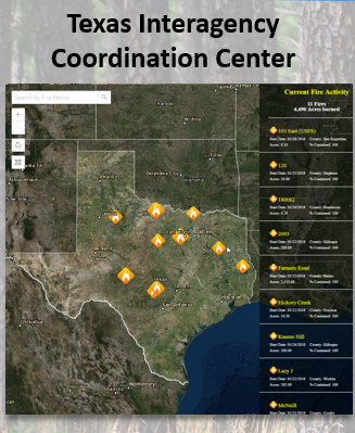 Texas Forest Service Fire Map Data and Analysis | Applications TFS