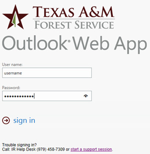 Outlook Web App - Login Screen