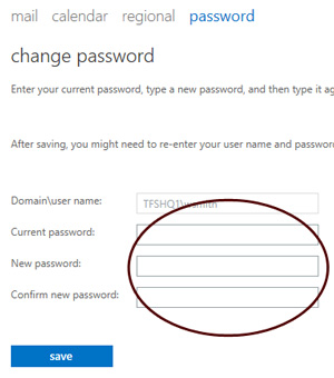 Outlook Web App - Change Password
