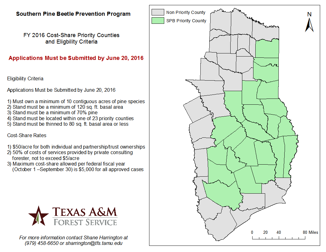 FY 2016 SPB Program Eligibiility County Map