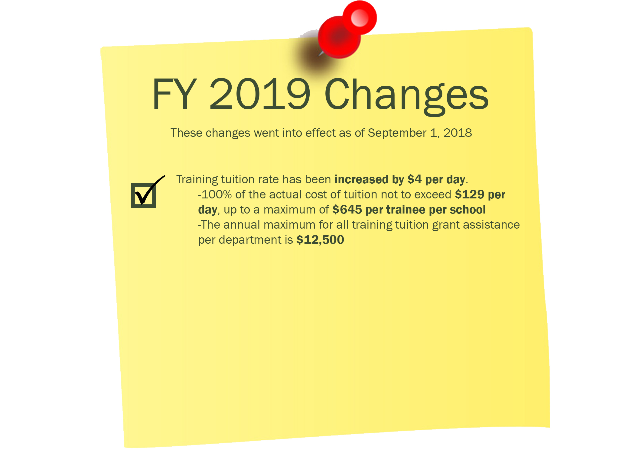 FY19 TIFMAS Changes
