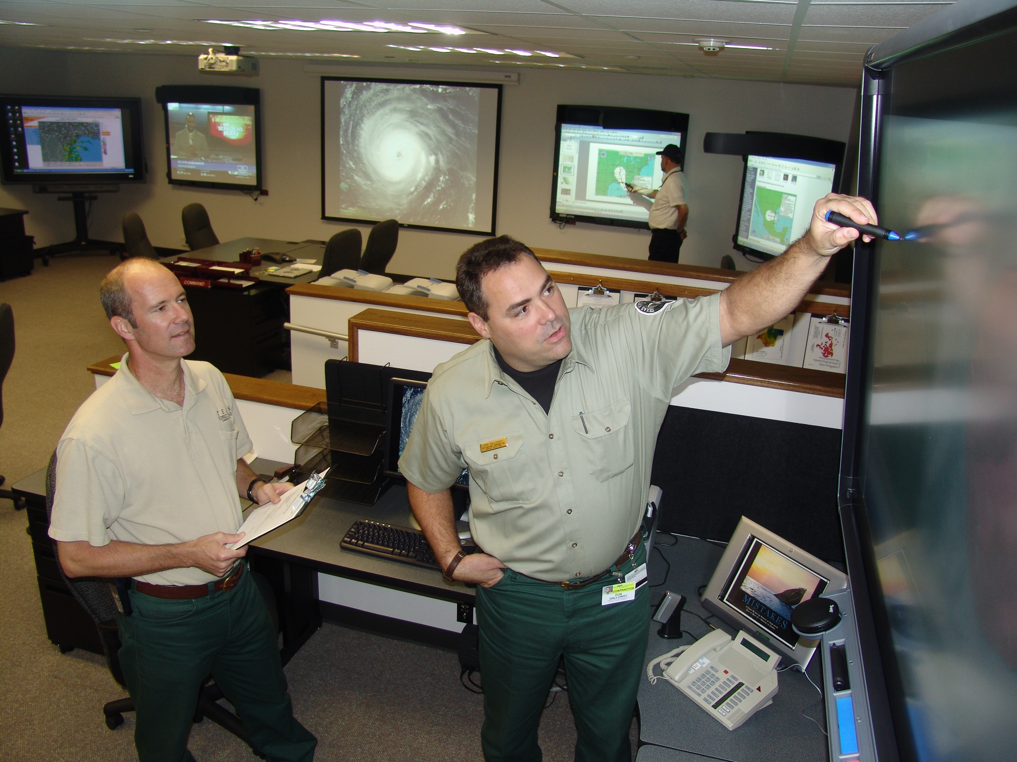 EMERGENCY OPERATIONS CENTER AT TFS HEADQUARTERS
