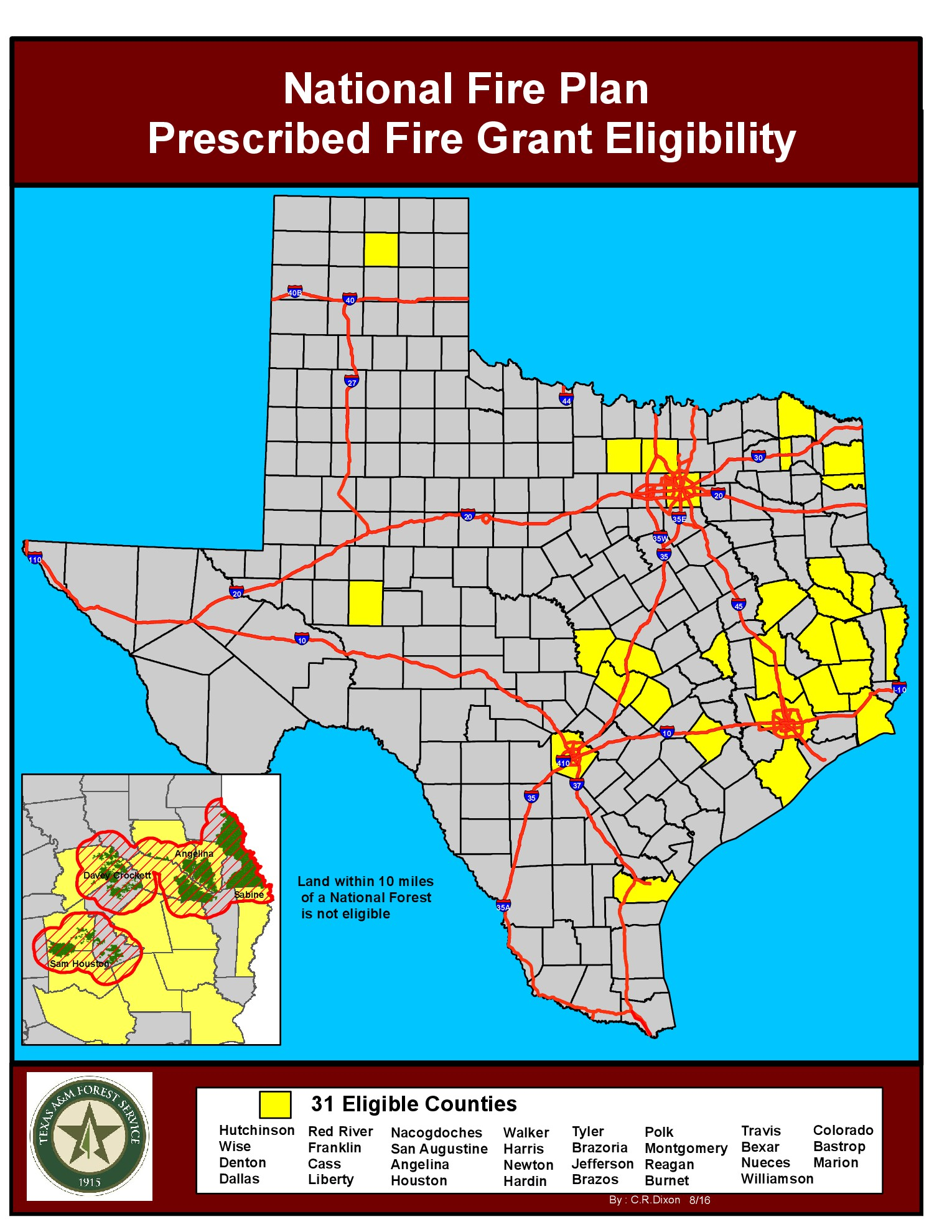 National Fire Plan Grant Eligible Counties