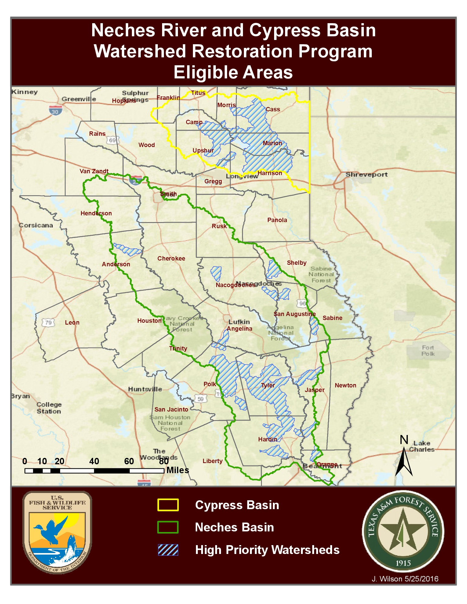 Watershed Grant Map