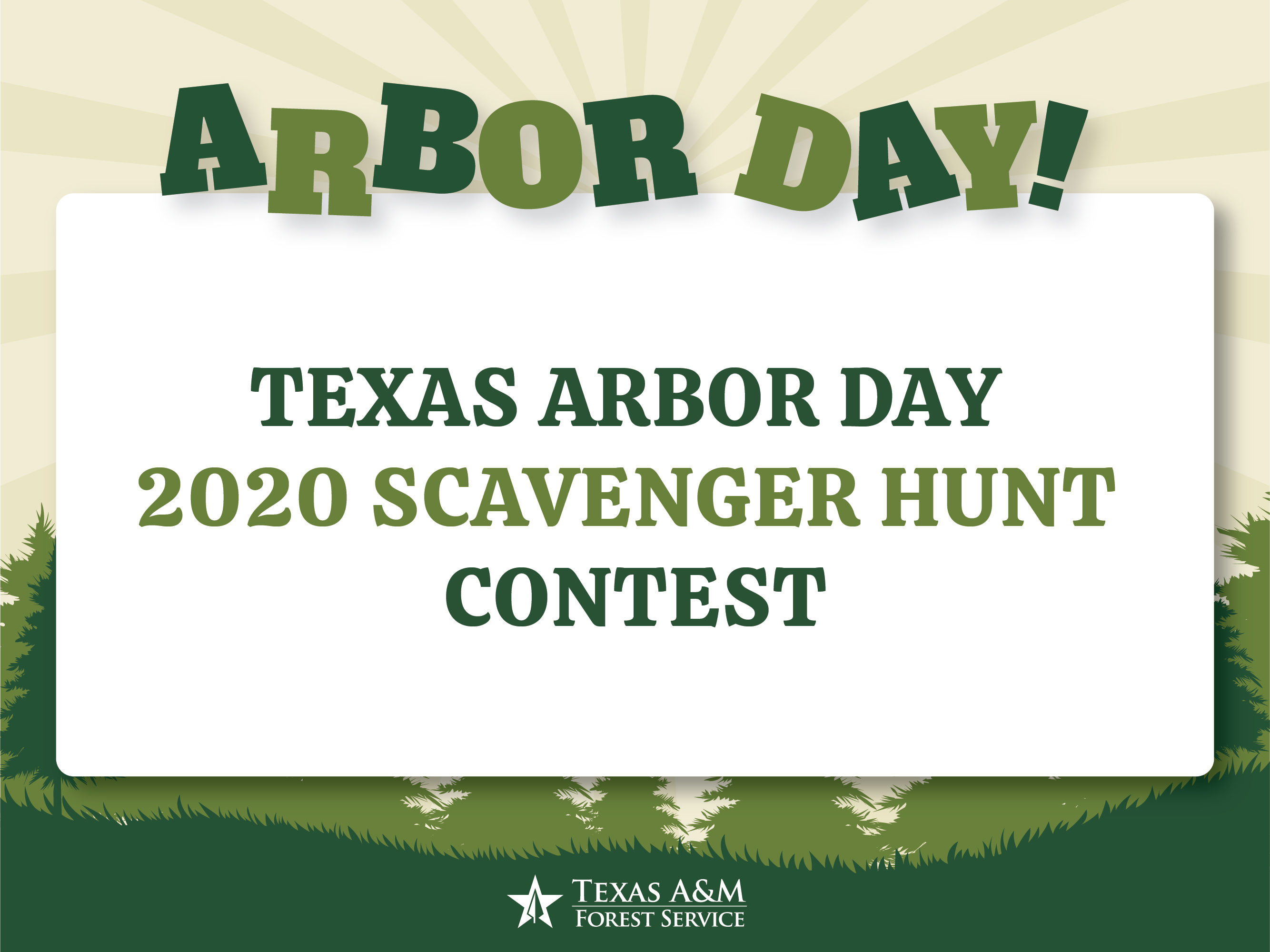 Arbor Day Scavenger Hunt Activity Contest