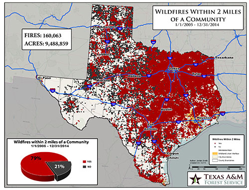 Texas Forest Service Fire Map Wildfires and Disasters | Texas Wildfire Protection Plan (TWPP)