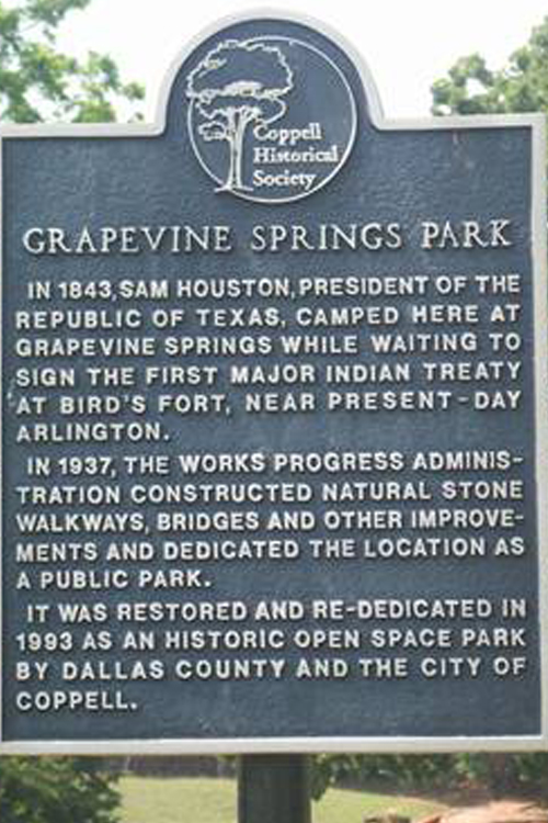 Houston Campsite Marker