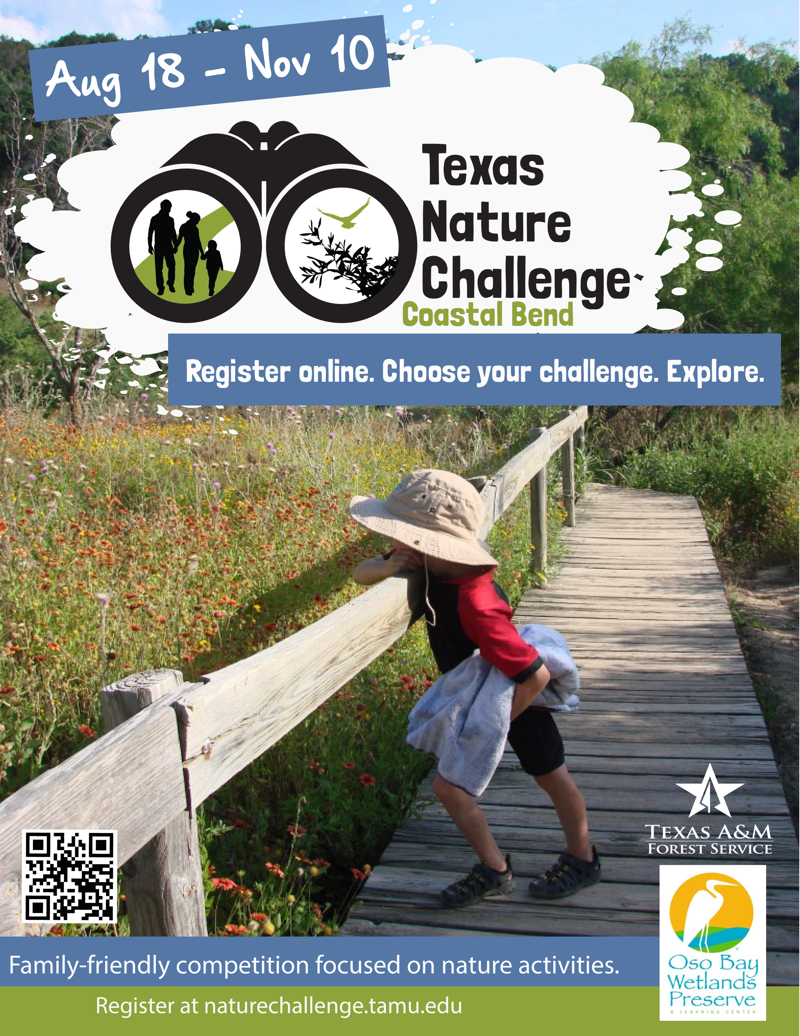 Coastal Bend Nature Challenge Flyer 2018