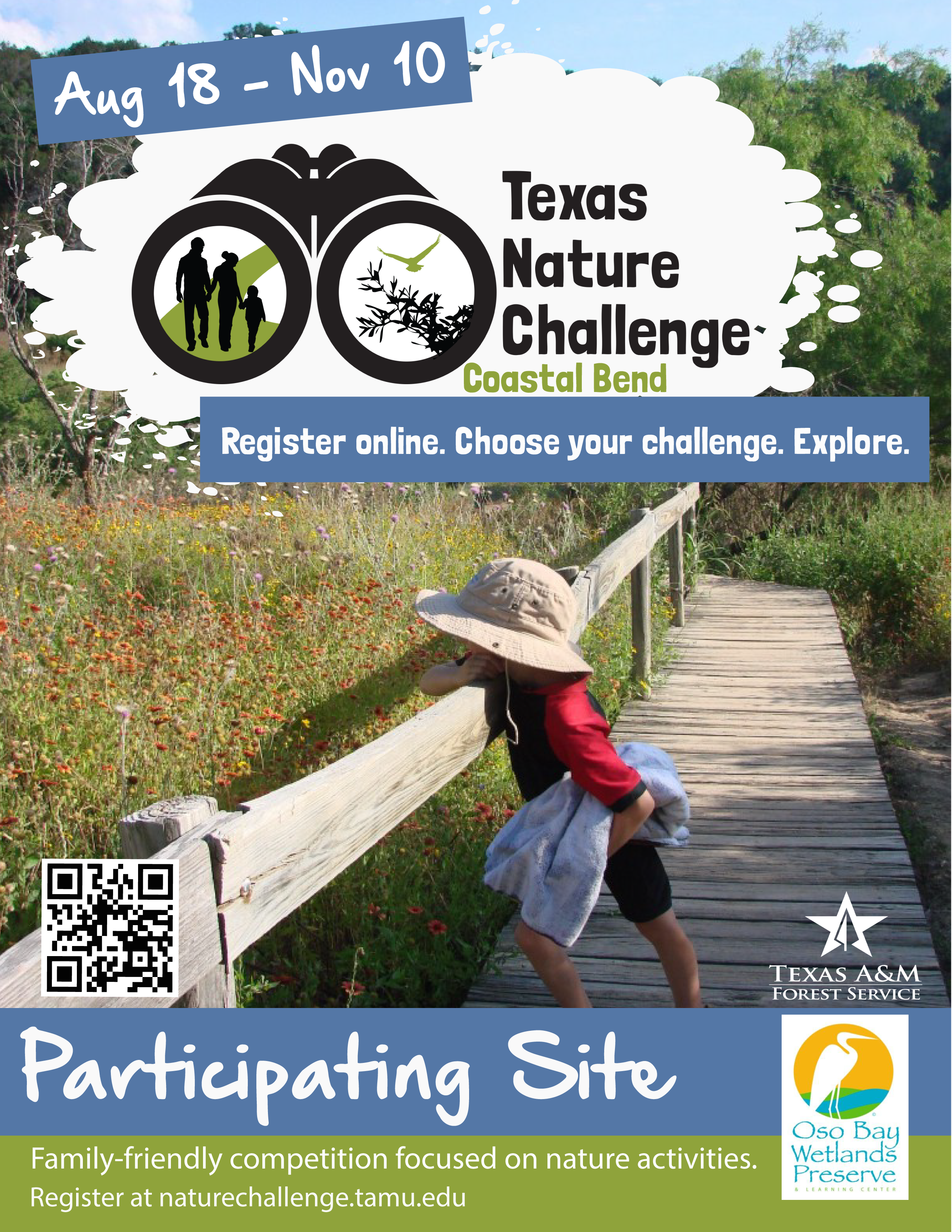 Coastal Bend Nature Challenge Flyer 2018_Participating Site